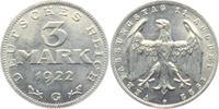 3 Mark 1922 G Weimarer Republik 3 Mark f.prägefrisch  9,95 EUR  +  3,95 EUR shipping