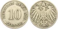 10 Pfennig 1899 J Kaiserreich 10 Pfennig - großer Adler ss  2,95 EUR  +  3,95 EUR shipping