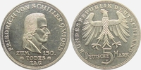 5 Mark 1955 F BRD Friedrich von Schiller v...