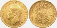 10 Mark 1873 E Sachsen König Johann von Sa...