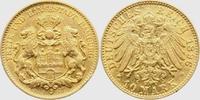 10 Mark 1896 J Hamburg Stadtwappen - große...