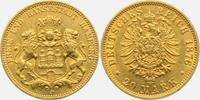 20 Mark 1876 J Hamburg Stadtwappen - mit kleinem Adler ss+  349,00 EUR  plus 9,95 EUR verzending