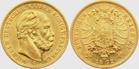 20 Mark 1872 C Hessen Kaiser Wilhelm I. vz  398,00 EUR  plus 9,95 EUR verzending