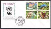 1999 Schweiz Erstagsbrief - Gefährdete Tierwelt - Vereinte Nationen - ... 2,95 EUR  +  3,95 EUR shipping