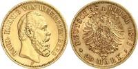 20 Mark 1876 F Württemberg König Karl von ...