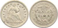 1/2 Dime 1857 o USA sitzende Liberty (1837...