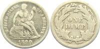 1 Dime 1890 USA sitzende Liberty (1875 - 1...