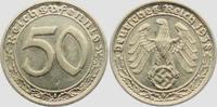 50 Pfennig 1938 G Drittes Reich 50 Reichsp...
