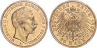 20 Mark 1890 A Preussen Kaiser Wilhelm II. PP
