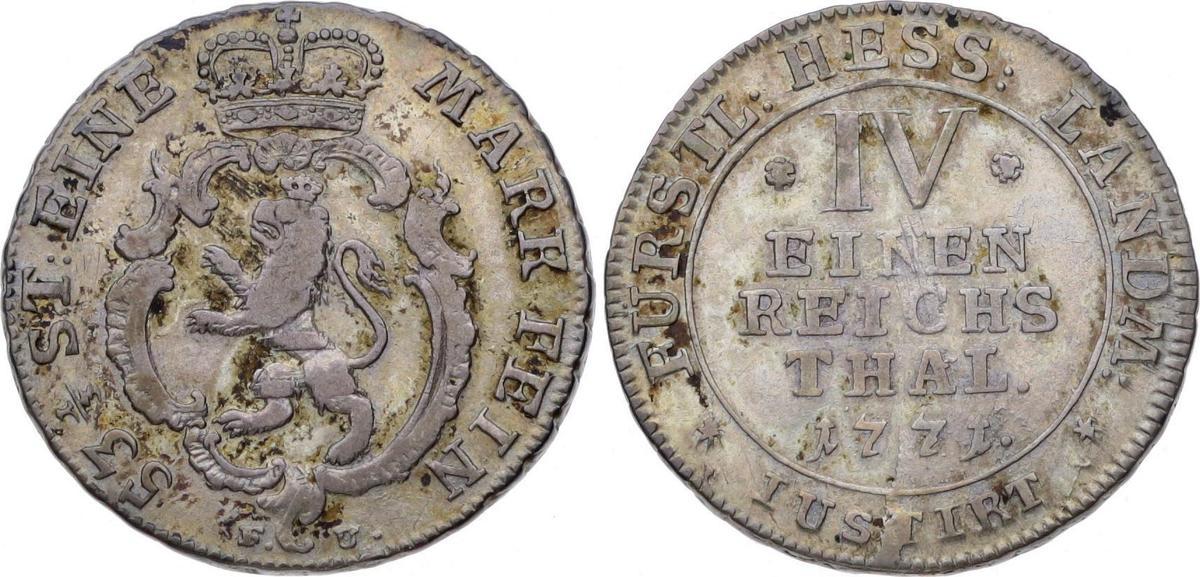 f5f181bf9af197 1 4 Taler 1771 FU Hessen-Kassel Friedrich II. 1760-1785. VF+