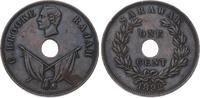 Cent 1892  H Malaysia-Sarawak  Winzige Ran...