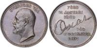 Silbermedaille 1907 Schweden Oskar II. 187...