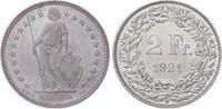 2 Franken 1921  B Schweiz-Eidgenossenschaf...