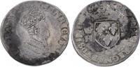 Teston 1554  O Frankreich Heinrich II. 154...