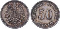 50 Pfennig 1876  E Kleinmünzen  Feine Pati...