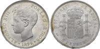 5 Pesetas 1899  SG Spanien-Königreich Alfo...