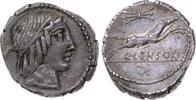 Denar 88 v. Chr Republik C. Marcius Censor...