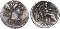 Denar 89 v. Chr Republik M. Porcius Cato 8...