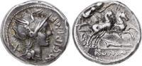 Denar 115/ 114 v. Chr Republik M. Cipius 1...