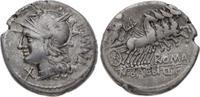 Denar 137 v. Chr Republik M. Baebius Q.f.T...