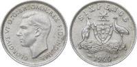 6 Pence 1940 Australien Georg VI. 1936-195...