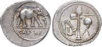 Denar 49/ 48 v. Chr Republik C. Julius Caesar 44 v. Chr. gest.. Feine Tönung. Minimale Prägeschwäche, vorzüglich-Stempelglanz