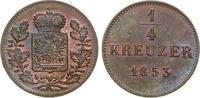 1/4 Kreuzer 1853. Altdeutschland bis 1871....