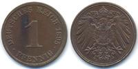 1 Pfennig 1895 J Kaiserreich großer Adler - Kupfer vorzüglich+  22,00 EUR  +  4,80 EUR shipping