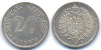 20 Pfennig 1876 D Kaiserreich kleiner Adler - Silber - Stempelriss präg... 22,00 EUR  +  4,80 EUR shipping