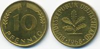 10 Pfennig 1968 J BRD Stahl/tombakplattiert prägefrisch  22,00 EUR  +  4,80 EUR shipping
