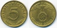 5 Reichspfennig 1936 D Drittes Reich Kupfe...