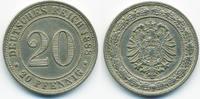 20 Pfennig 1888 G Kaiserreich kleiner Adle...