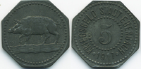 5 Pfennig 1917 Baden Eberbach - Zink 1917 ...