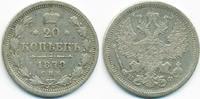 20 Kopeken 1878 Russland - Russia Alexande...