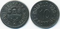10 Pfennig 1920 Schlesien Grünberg - Eisen 1920 (Funck 176.8a) sehr sch... 9,50 EUR  +  1,80 EUR shipping