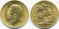 Sovereign 1918 I Indien - India George V. 1910-1936 prägefrisch  420,00 EUR free shipping