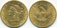 10 Dollars 1895 USA Liberty fast vorzüglich  750,00 EUR free shipping