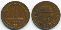 1 Filler 1928 BP Ungarn - Hungary Regierung Horthy 1920-1944 vorzüglich  2,00 EUR  +  1,80 EUR shipping