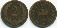 2 Filler 1894 KB Ungarn - Hungary Franz Josef I. 1848-1916 schön/sehr s... 1,00 EUR  +  1,80 EUR shipping