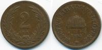 2 Filler 1895 KB Ungarn - Hungary Franz Josef I. 1848-1916 sehr schön  1,00 EUR  +  1,80 EUR shipping