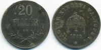 20 Filler 1918 KB Ungarn - Hungary Franz Josef I. 1848-1916 sehr schön+... 1,50 EUR  +  1,80 EUR shipping
