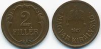 2 Filler 1927 BP Ungarn - Hungary Regierung Horthy 1920-1944 sehr schön+  1,20 EUR  +  1,80 EUR shipping