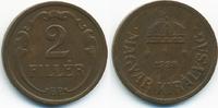 2 Filler 1938 BP Ungarn - Hungary Regierung Horthy 1920-1944 sehr schön+  0,50 EUR  +  1,80 EUR shipping