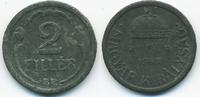 2 Filler 1943 BP Ungarn - Hungary Regierung Horthy 1920-1944 sehr schön+  0,60 EUR  +  1,80 EUR shipping