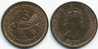 3 Mils 1955 Zypern - Cyprus Elisabeth II. ab 1952 prägefrisch  3,50 EUR  +  1,80 EUR shipping