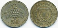50 Mils 1963 Zypern - Cyprus Republik 1960-2001 sehr schön+  0,80 EUR  +  1,80 EUR shipping