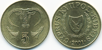 5 Cents 2001 Zypern - Cyprus Republik 1960-2001 prägefrisch  0,80 EUR  +  1,80 EUR shipping