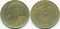 20 Cents 1989 Zypern - Cyprus Republik 1960-2001 sehr schön+  1,00 EUR  +  1,80 EUR shipping