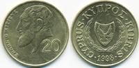 20 Cents 1998 Zypern - Cyprus Republik 1960-2001 vorzüglich  1,00 EUR  +  1,80 EUR shipping