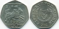 50 Cents 2002 Zypern - Cyprus Republik 1960-2001 fast prägefrisch  3,00 EUR  +  1,80 EUR shipping